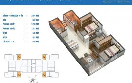 Cho thuê căn hộ Golden West DT 75m2, nội thất cơ bản, giá 7.5 triệu/tháng