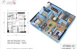 Bán căn 2806 toà CT4 Eco Green City giá rẻ, căn hộ 3 phòng ngủ hướng Đông Nam chỉ 2,67 tỷ