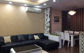 Cho thuê chcc Golden Land, tầng 18, 120m2, 2 phòng ngủ, đủ đồ, 12r/th. Lh: 0936325238