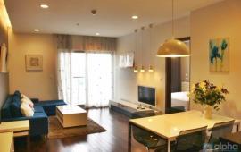 Cho thuê CHCC The Lancaster, tầng 18, căn góc, 108m2, 2 phòng ngủ, đủ nội thất xịn, 23tr/tháng