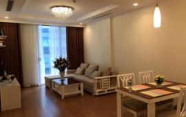 Cho thuê CHCC Golden Land, 96m2, 2 phòng ngủ sáng, tầng 18, đủ nội thất 12tr/tháng Lh 0918441990