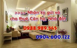 Cho thuê căn hộ chung cư căn hộ ở Viettel, căn tầng 12, s: 126m2, đồ cơ bản