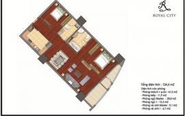 Cho thuê CHCC Royal City, 2PN – đủ đồ - 18 triệu/tháng