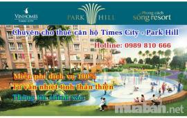 Cho thuê căn hộ chung cư Time City Park Hill. Diện tích 106 m2, thiết kế 3 phòng ngủ, 3WC- 0989810666
