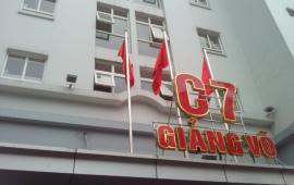 Cho thuê căn hộ C7- Giảng Võ đối diện KS Hà Nội 65m2, 2PN đủ đồ giá 14triệu/tháng.