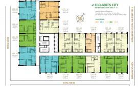 Chính chủ cho thuê gấp căn hộ CC Ecogreen City, căn 2009 DT67.09m2, 2PN, 2VS, giá: 8tr/th: 01665504276