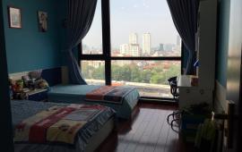 Cho thuê CHCC Hòa Bình Green City, DT 128m2, thiết kế 3 phòng ngủ, 2 vệ sinh, giá 14tr/th