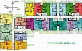 Cho thuê chung cư cao cấp Ecolife Tây Hồ, 102.6m2, 3PN giá 8 triệu/tháng. LH 0166 902 1484