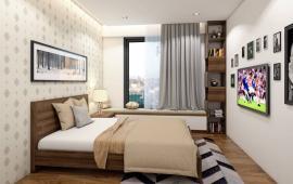 Cho thuê chung cư Golden Palace căn góc tầng 19, 136m2, 3PN, sàn gỗ tủ bếp, 14 tr/th: 0963 650 625