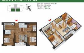 Cần tiền cho con đi du học, bán căn hộ CC K35 Tân Mai, 81.6m2, căn góc giá chỉ 2 tỷ bao sang tên 0934634268