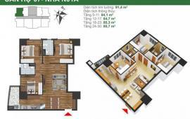 Chủ nhà bán gấp căn hộ chung cư K35 Tân Mai, Hoàng Mai, 85m2 giá siêu tốt chỉ 25.5tr/m2 0934634268