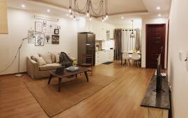 Cho thuê CHCC Home City, DT 113m2, căn góc, 3 PN sáng, full nội thất đẹp, giá 18tr/th