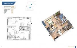 Bán căn hộ 59 m2 dự án Hà Nội Homeland – cầu chui Nguyễn Văn Cừ 1,2 tỷ/căn.