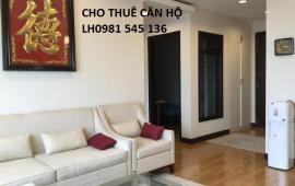Cho thuê căn hộ chung cư phố Quần Ngựa, Ba Đình 180m2 3PN nội thất rất đẹp 12 tr/th. LH 0981545136